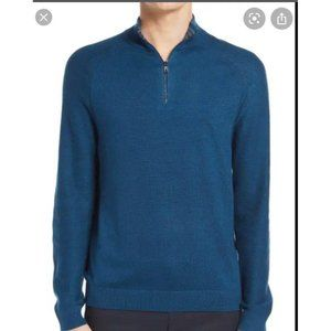 NORDSTROM Mens Shop Quarter Zip Sweater Size XL
